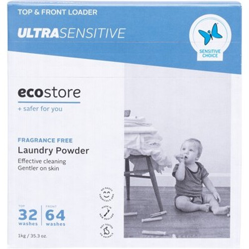Laundry Powder Ultra Senstive Fragrance Free 1kg - Ecostore