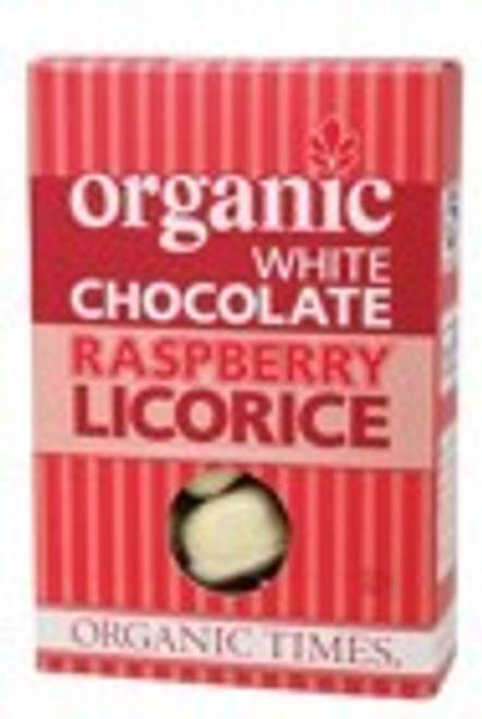 White Chocolate Raspberry Licorice 150g - Organic Times