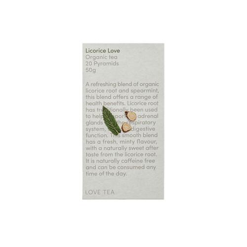 Licorice Love Tea 20 Pyramid Bags Organic - Love Tea