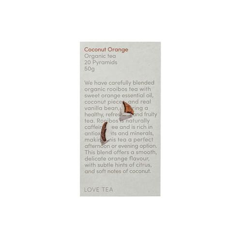 Coconut Orange Tea 20 Pyramid Bags Organic - Love Tea