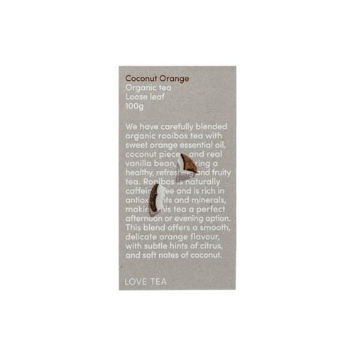 Coconut Orange Tea Loose Leaf Organic 100g - Love Tea