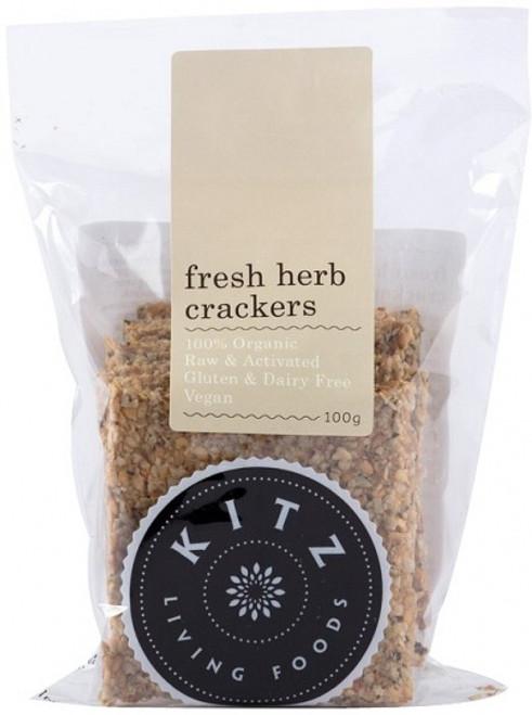 Fresh Herb Crackers Organic 100g - Kitz