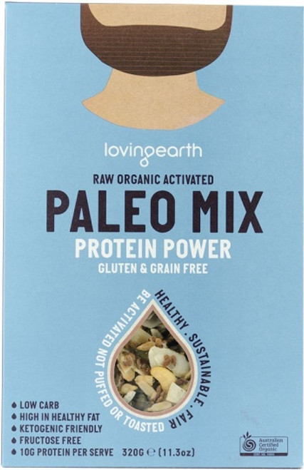 Paleo Mix Activated Protein Power Raw Organic 320g - Loving Earth