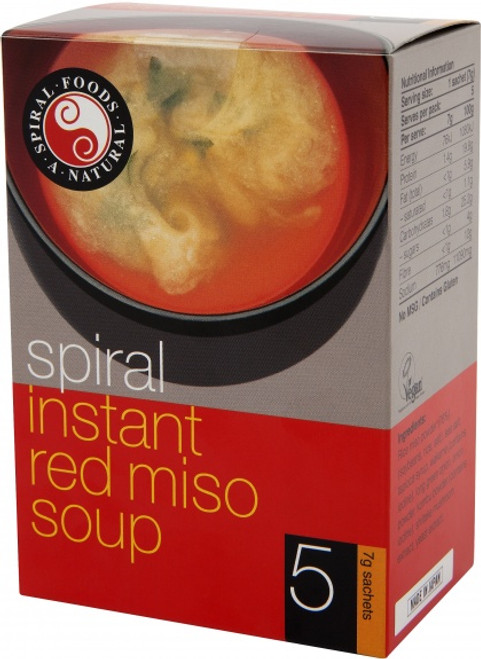 Miso Soup Red Instant 5 x 7g - Spiral