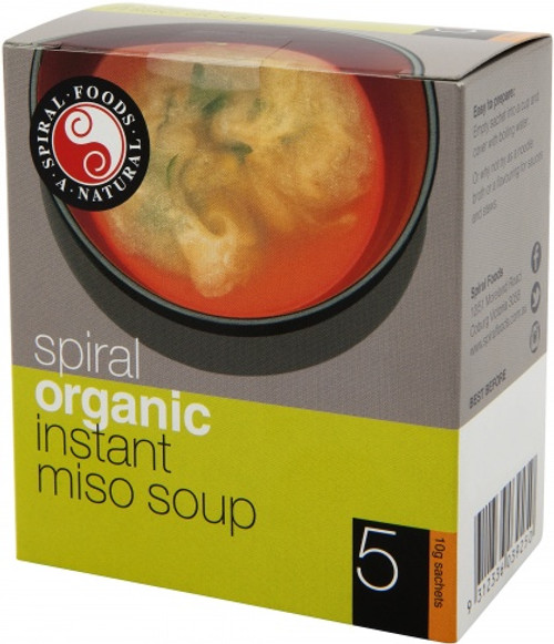 Miso Soup Instant Organic 5 x 10g - Spiral