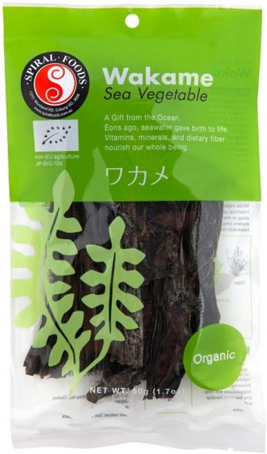 Wakame Sea Vegetable Organic 50g _ Spiral