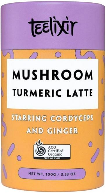 Mushroom Turmeric Latte with Cordyceps 100g - Teelixir