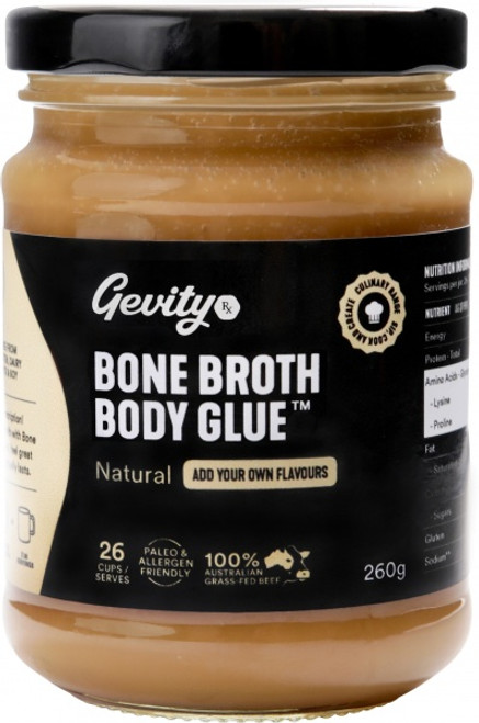 Bone Broth Body Glue Natural 260g - Gevity Rx