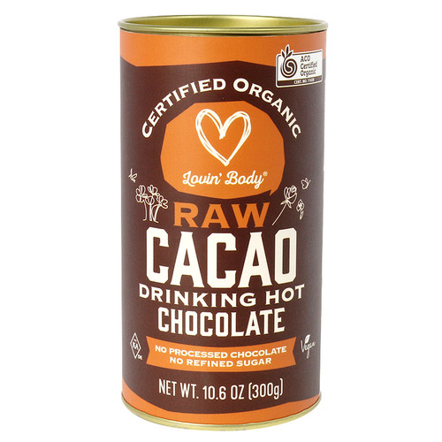 Lovin' Body Raw Cacao Drinking Hot Chocolate Organic 300g - Chefs Choice