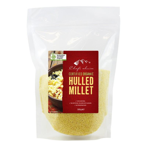 Millet Hulled Organic 500g - Chef's Choice