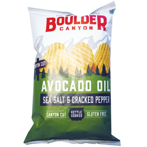 Potato Chips (Avocado Oil) Sea Salt & Black Pepper 149g  - Boulder Canyon
