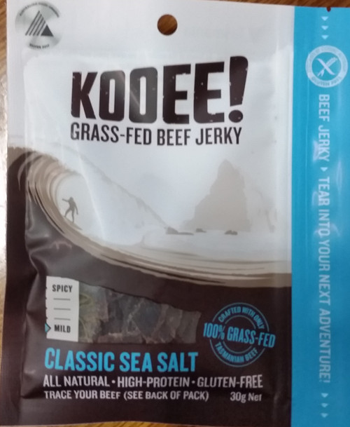 Beef Jerky Classic Sea Salt Organic 30g - Kooee