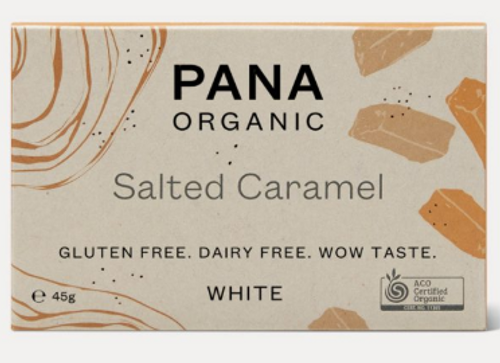 White Chocolate Salted Caramel Raw Organic 45g - Pana