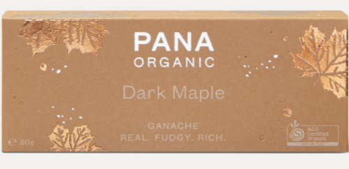 Chocolate Ganache Dark Maple Raw Organic 80g - Pana