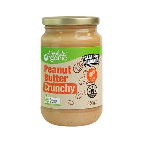 Peanut Butter Crunchy Organic 350g - Absolute Organic