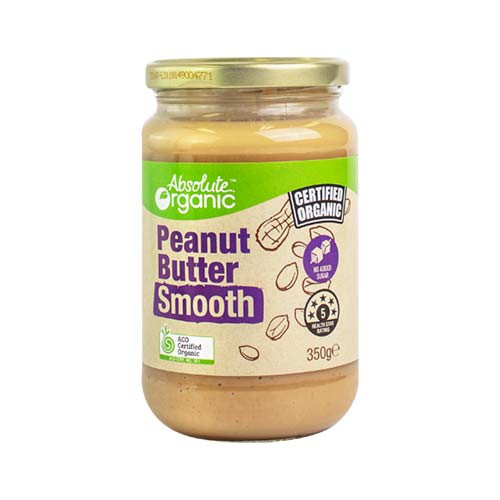 Peanut Butter Smooth Organic 350g - Absolute Organic