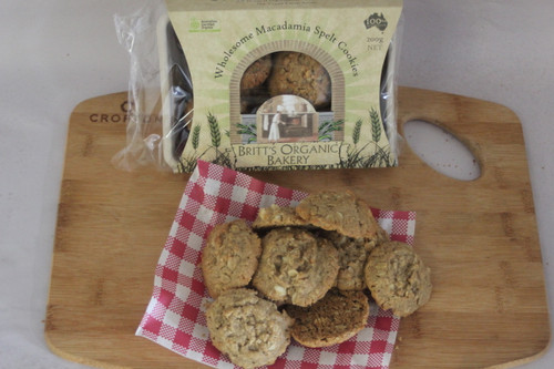 Spelt Macadamia Cookies - Britts Organic