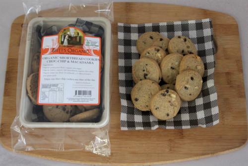Macadamia Choc Chip Cookies Organic 200g - Britts Organic