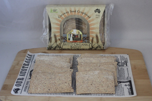Spelt Caraway Seed Crispbread Organic 160g - Britts Organic