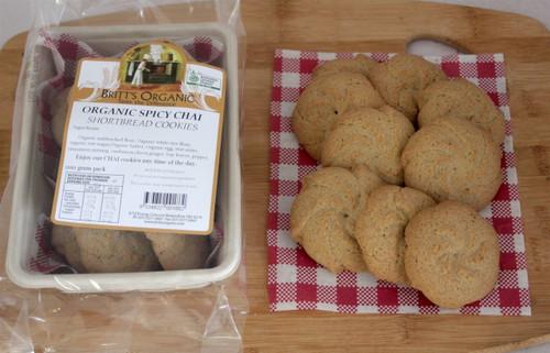 Spicy Chai Shortbread Cookies Organic 200g - Britts Organic