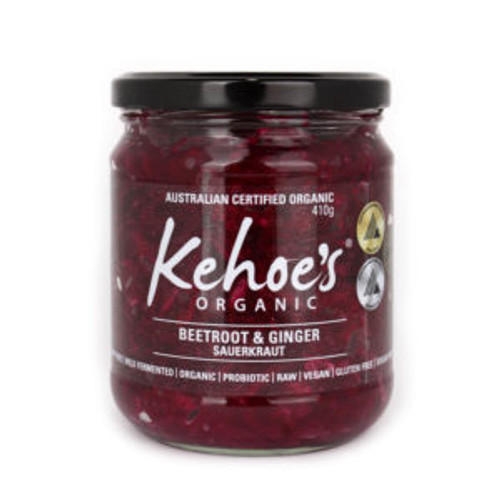 Sauerkraut Beetroot & Ginger Organic 410g - Kehoes Kitchen