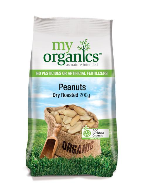 Peanuts Dry Roasted Organic 250g - My Organics