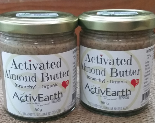 Activated Almond Butter Crunchy Organic 180g - ActivEarth Foods