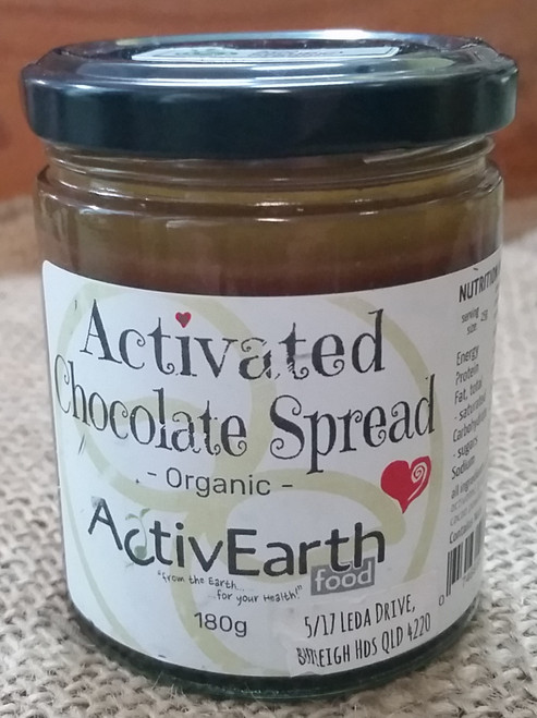 Activated Chocolate Spread Organic 180g - ActivEarth Foods