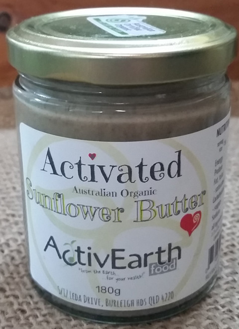Activated Sunflower Butter Organic 180g - ActivEarth Foods