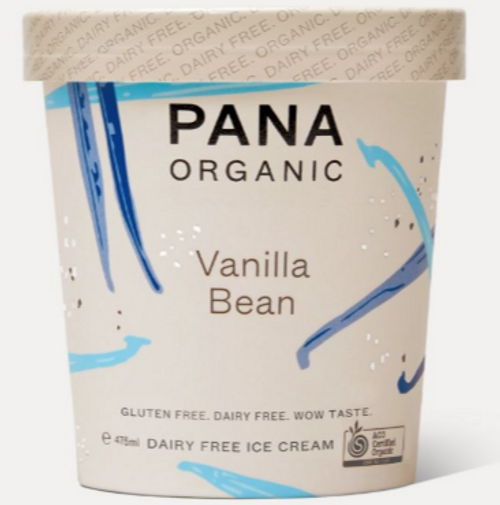 Dairy Free Ice cream Vanilla Bean Organic 475ml - Pana