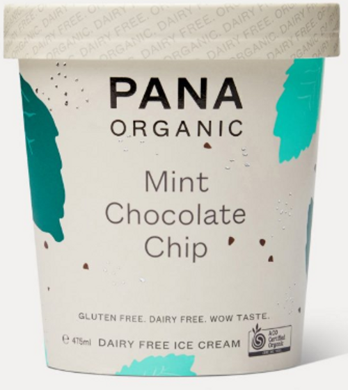 Dairy Free Ice Cream Mint Choc Chip Organic 475ml - Pana