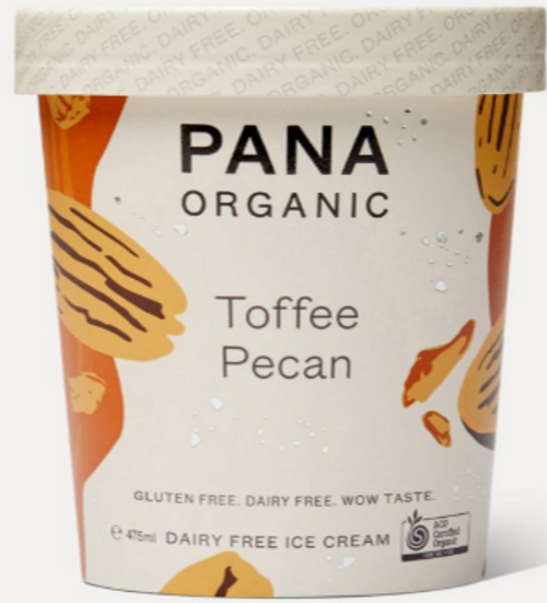 Dairy Free Ice Cream Toffee Pecan Organic 475ml - Pana