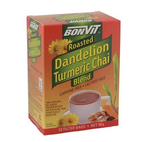 Dandelion Turmeric Chai Tea Blend 32 Bags - Bonvit