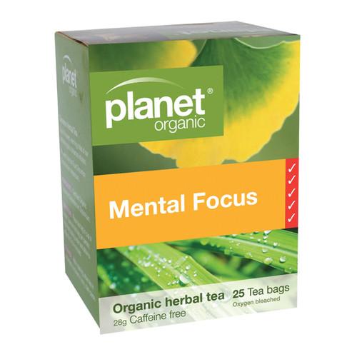 Mental Focus Organic Tea 25 Bags - Planet Organic