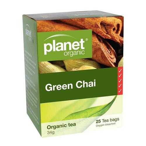 Green Chai Organic Tea 25 Bags - Planet Organic