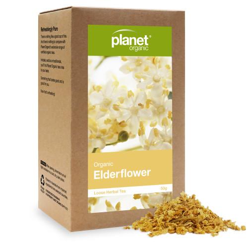 Elderflower Loose Leaf Organic Tea 50g - Planet Organic