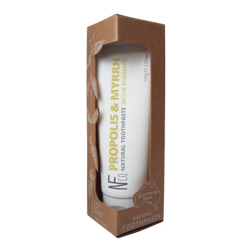 Toothpaste Natural Native Rivermint Propolis & Myrrh 100g - The Natural Family Co.