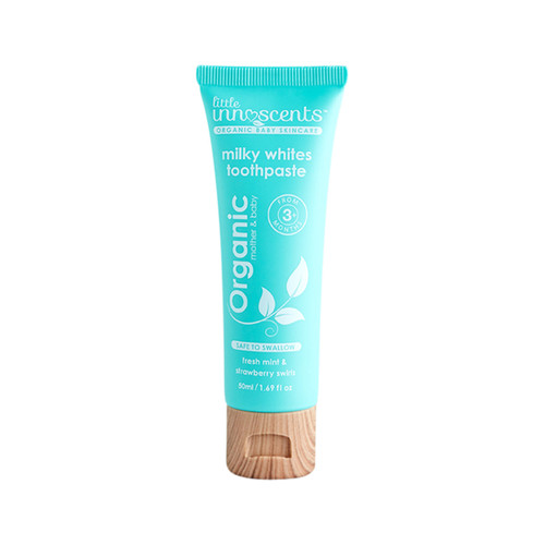 Toothpaste Milky Whites Flouride Free Organic 50ml - Little Innoscents