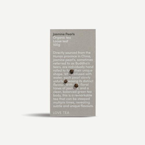 Jasmine Pearls Loose Leaf Organic 100g - Love Tea *Please pre-order to ensure supply