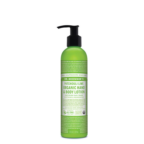 Hand & Body Lotion Patchouli & Lime Organic 237ml - Dr Bronners