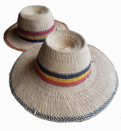 African Hat Bolga - Large Brim