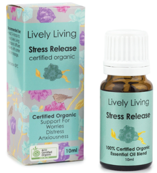 Essential Oil Stress Relief Organic 10ml - Lively Living