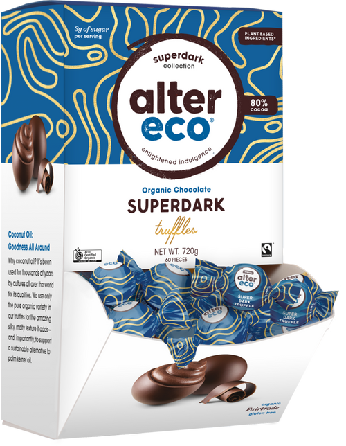 Truffles Superdark Cacao Organic Single (Plant based) 12g - Alter Eco