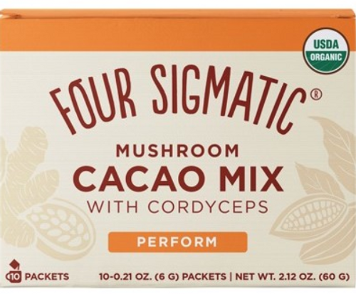 Mushroom Hot Cacao mix packets with Cordyceps Organic 10x6g - Four Sigmatic