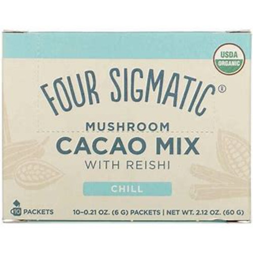 Mushroom Hot Cacao mix packets with Reishi Organic 10x6g - Four Sigmatic