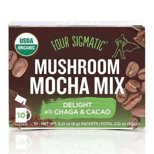Mushroom Mocha mix packets with Chaga & Cacao Organic 10x6g - Four Sigmatic