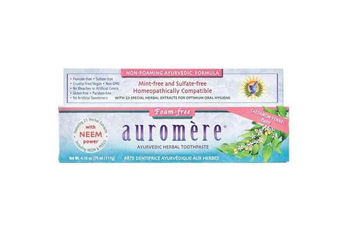 Toothpaste Ayurvedic Cardomom-Fennel Foam Free 117g - Auromere