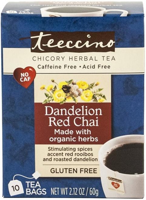 Herbal Coffee/Tea Dandelion Red Chai 10 Bags - Teeccino