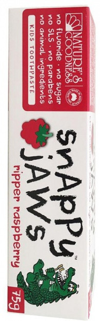 Toothpaste Children's Raspberry SLS free 75g Snappy Jaws - Natures Goodness