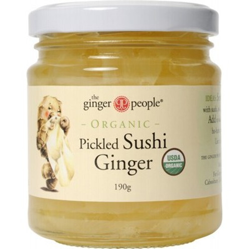Pickled Sushi Ginger Organic 190g - The Ginger People
